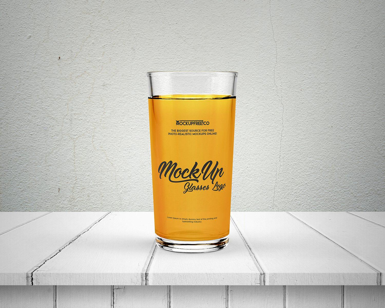 Free Glasses Logo Mockup