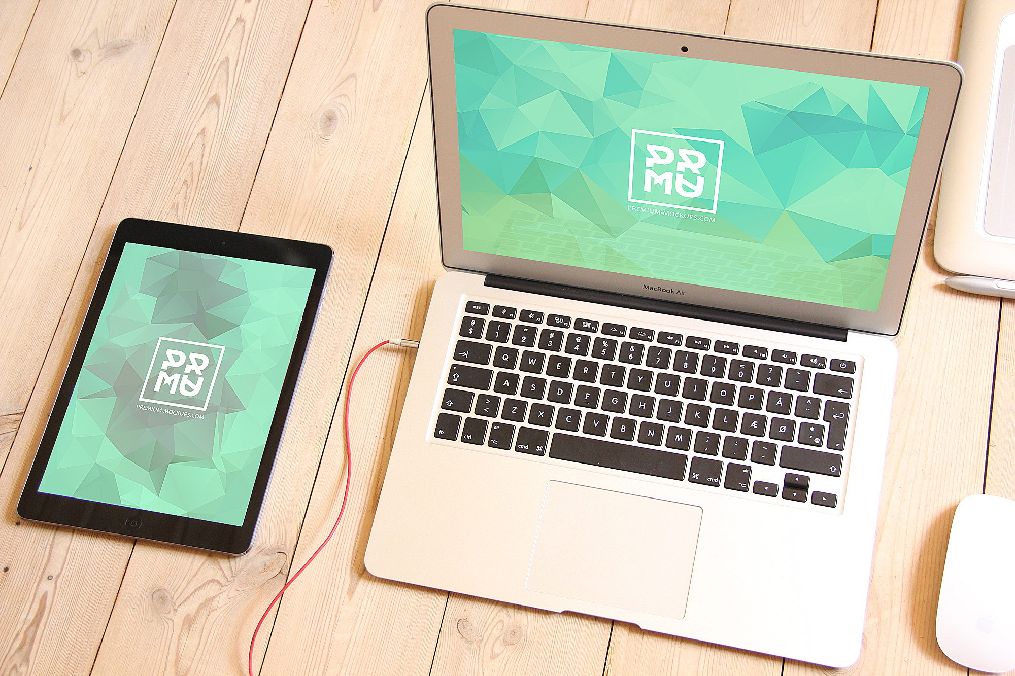 Free MacBook Mockup. iPad PSD Mockup