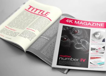 Magazine Mockup Free