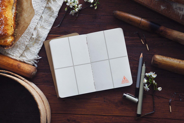 Opened Sketchbook / Notebook Mock-up