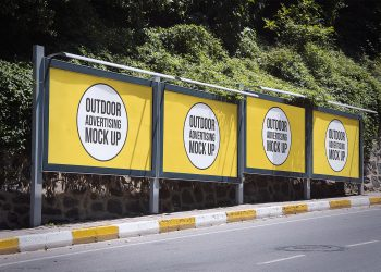 Outdoor Advertising Mockups Free. Billboard Mockup