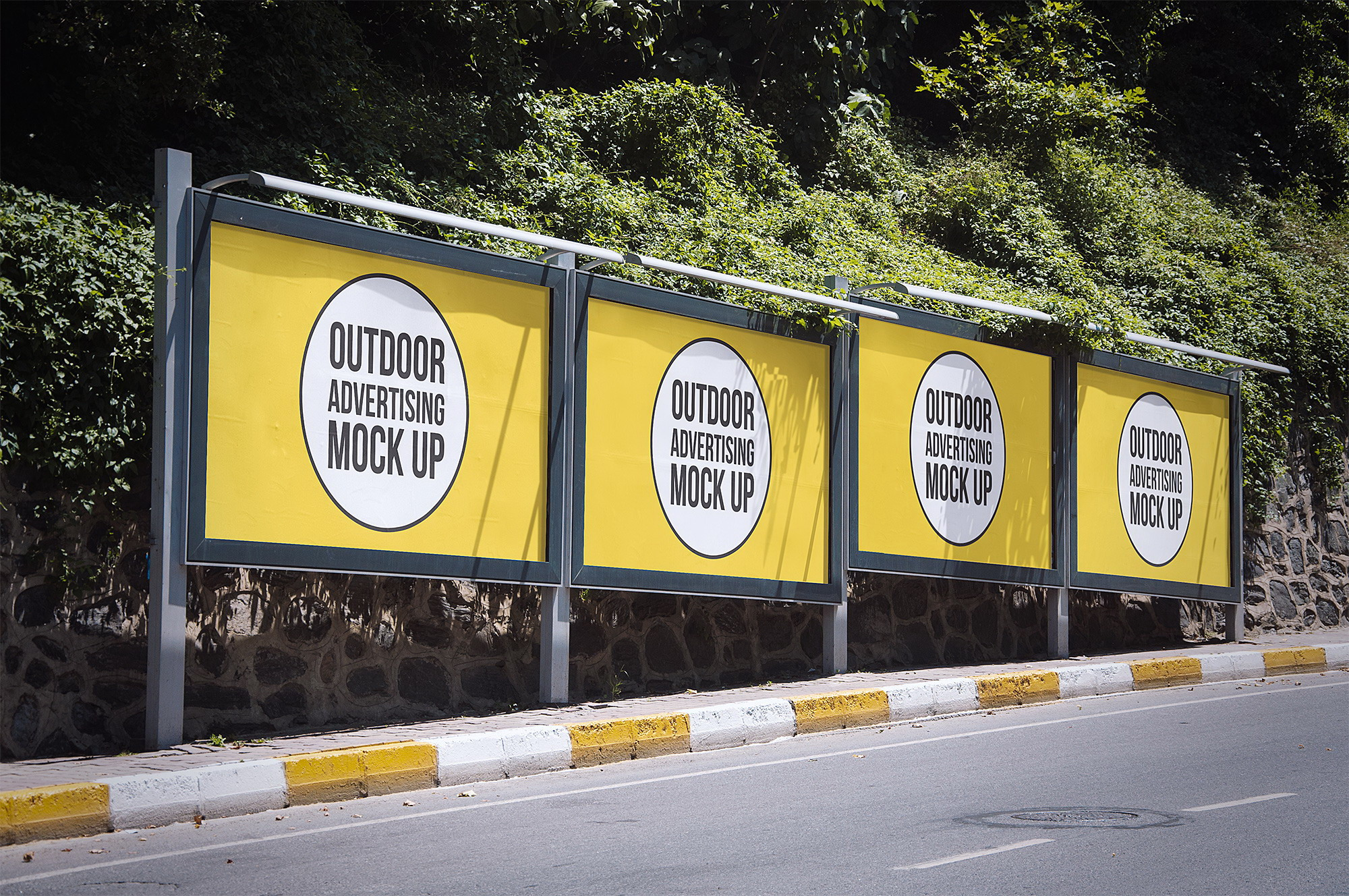 Outdoor Advertising Mockups Free. Billboard Mockup