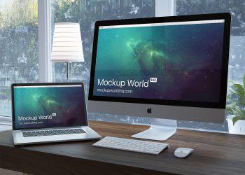 iMac Workspace Free Mockup