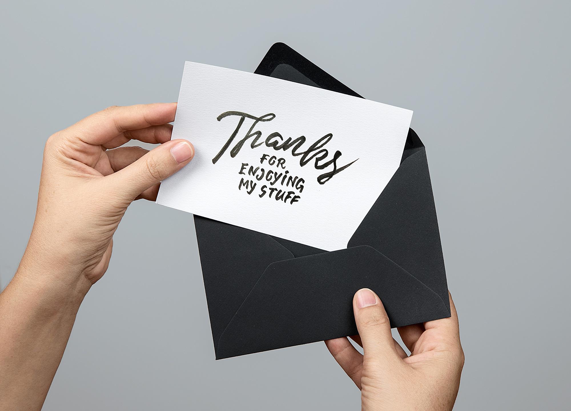 Greeting Card PSD Mockup. Invitation Card