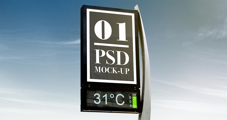 Outdoor Advertising Free Mockups Set