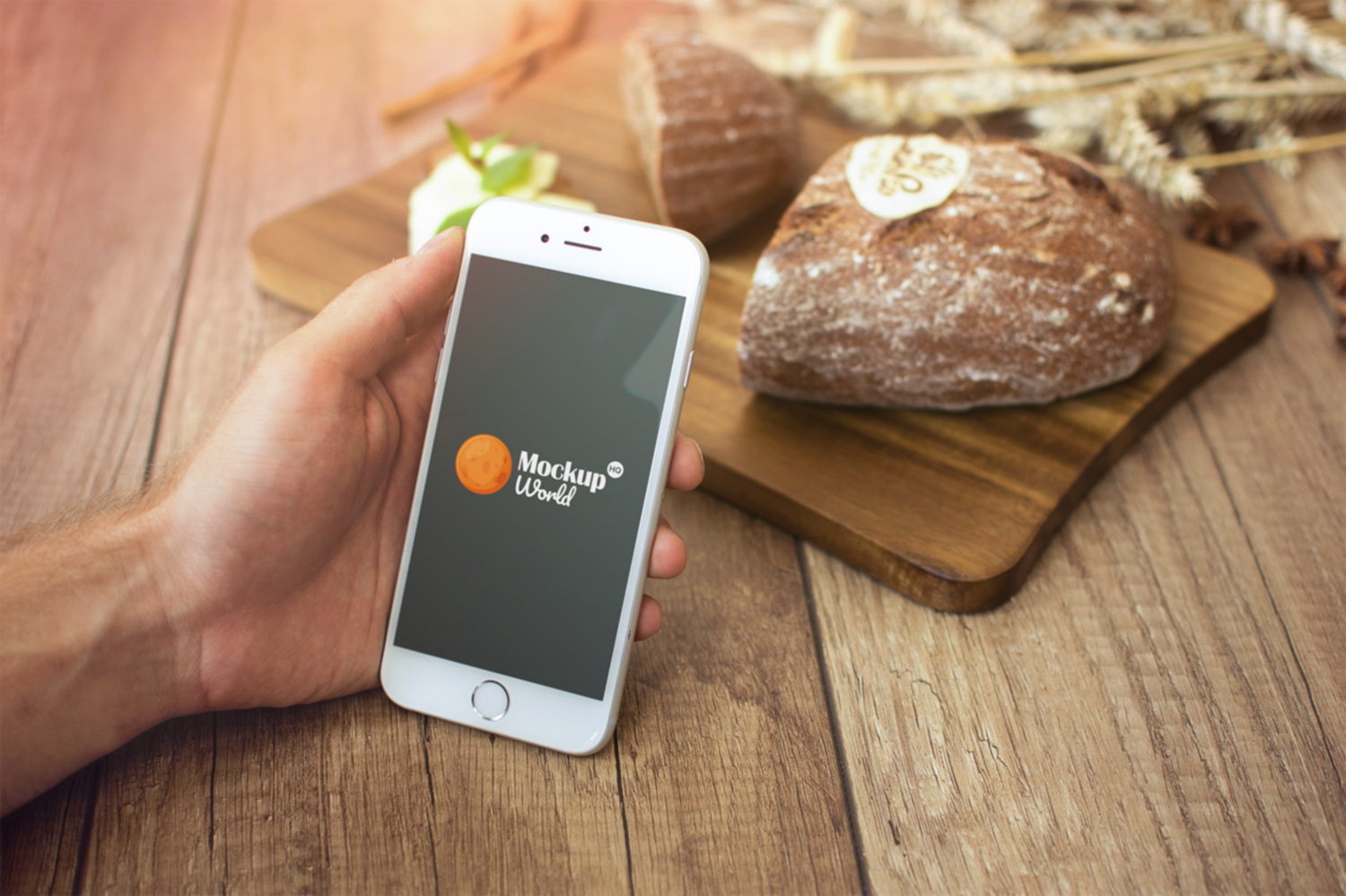 Farm Breakfast iPhone 6 Mockup Free