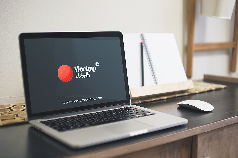 Apple MacBook Pro Mock Up Free