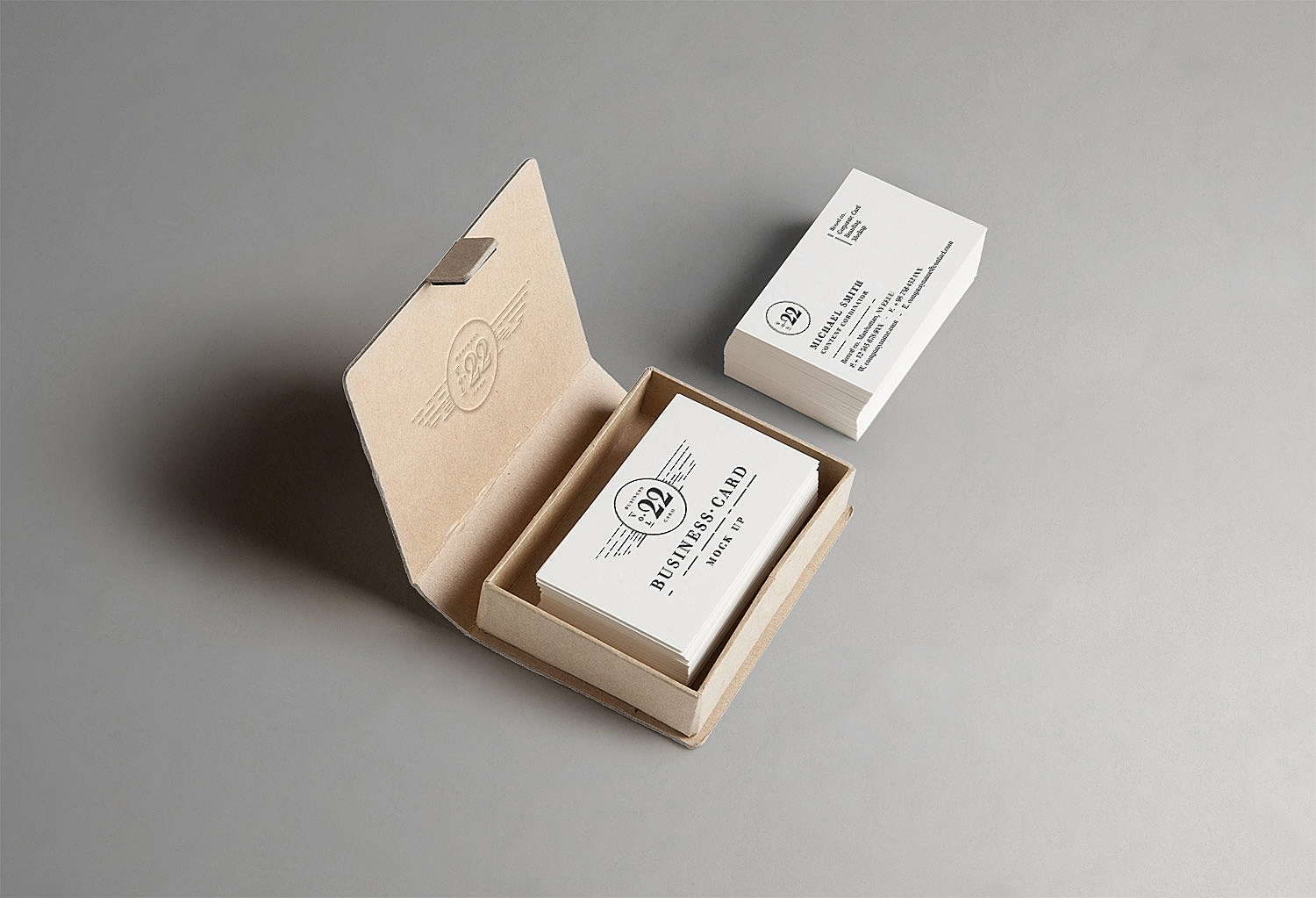 Business Card Mock-Up Free PSD