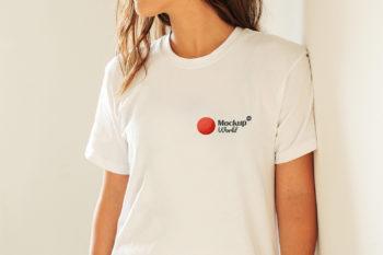 Girl T-Shirt Mockup Free