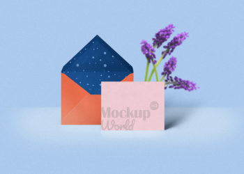Greeting Card Mockup Free PSD