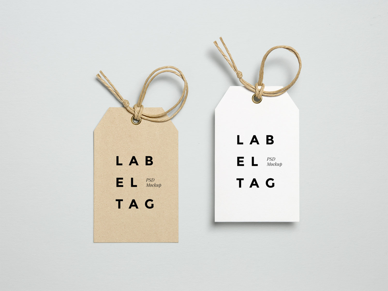 Label Tag PSD Mock-Up
