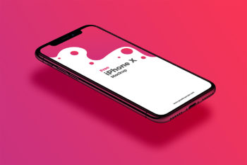 Perspective View iPhone X Mockup Free
