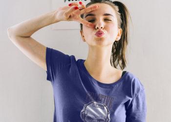 Women T-Shirt Mockup Free