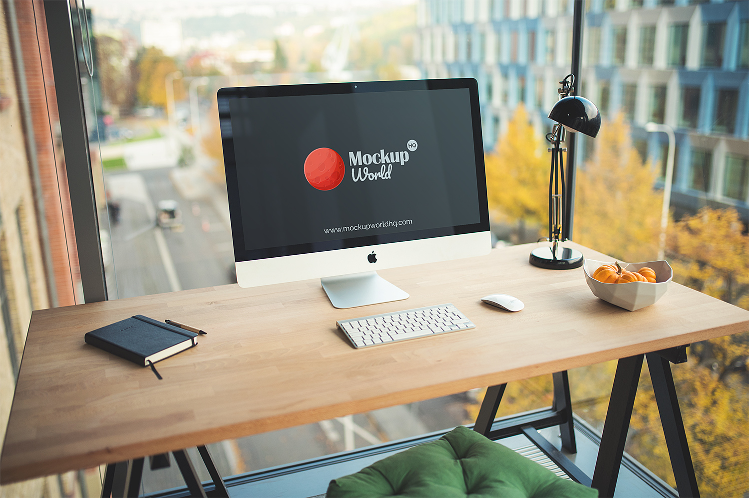 iMac Business Office Mock Up Free