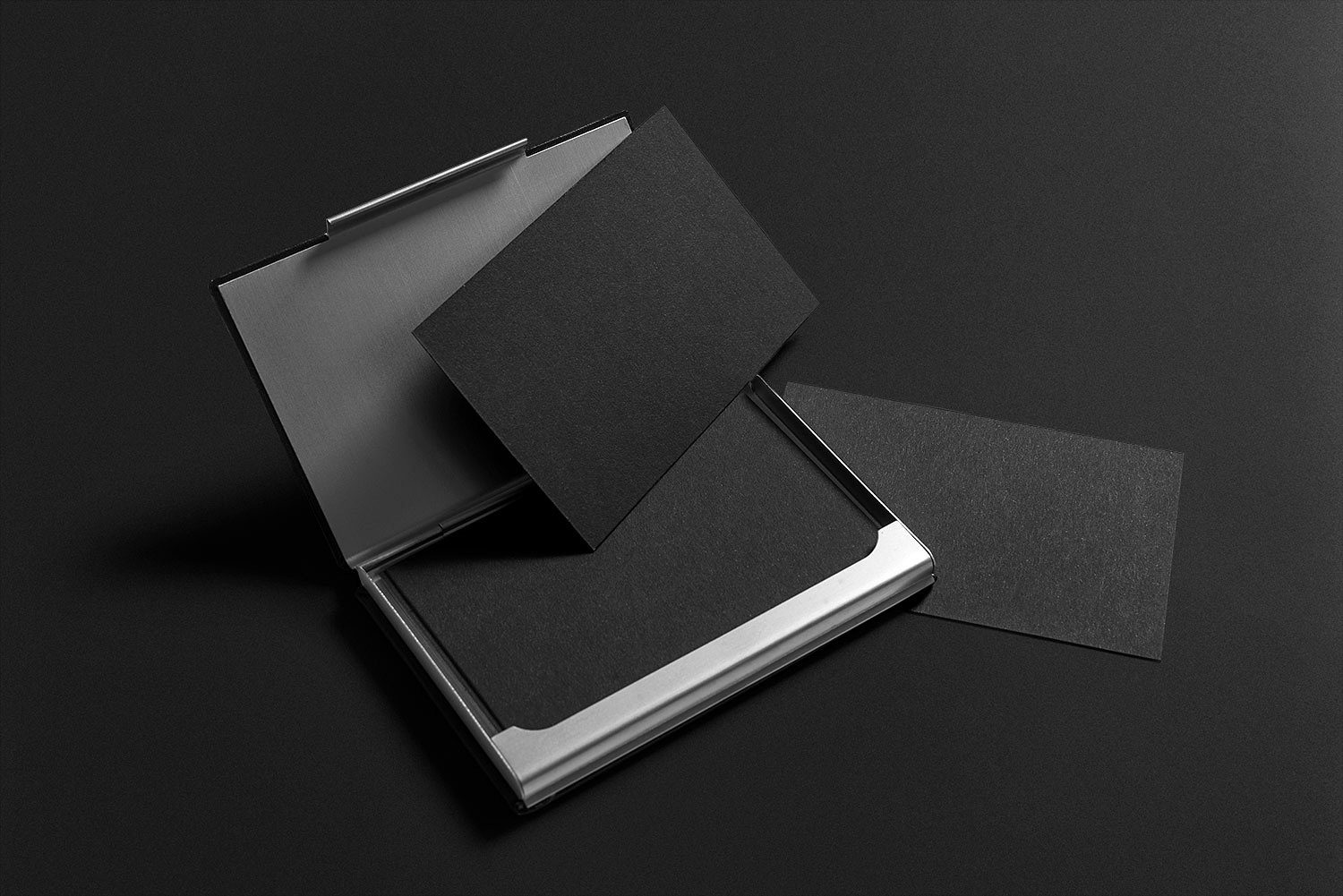 Black Stationery Mockup Free PSD