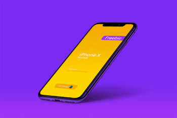 iPhone X Perspective Free Mockup
