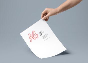 A4 Paper Mockup PSD