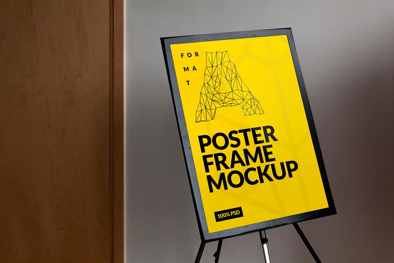 Poster Presentation Board Mockup Free PSD