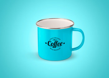 Enameled Mug Mock Up Free