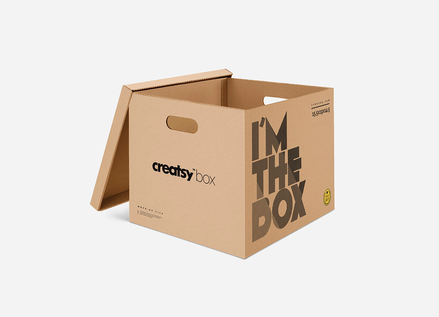 Moving Box Mock Up Free PSD