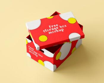 Storage Box Free Mockup