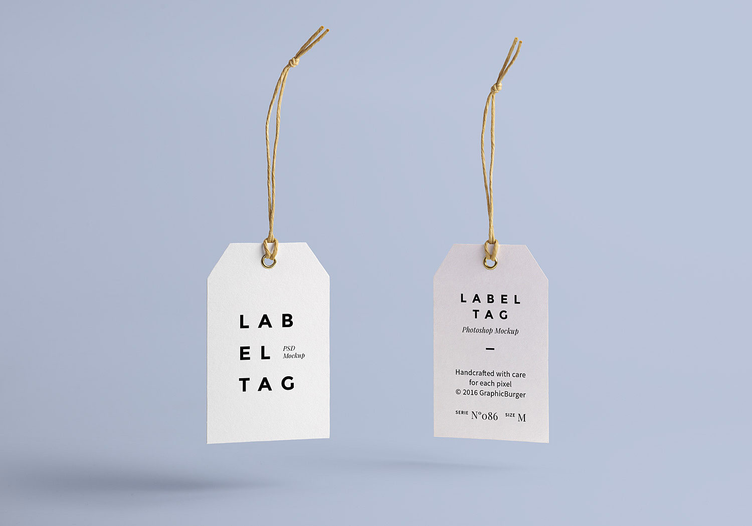 Label Tag Mock-Up Free PSD