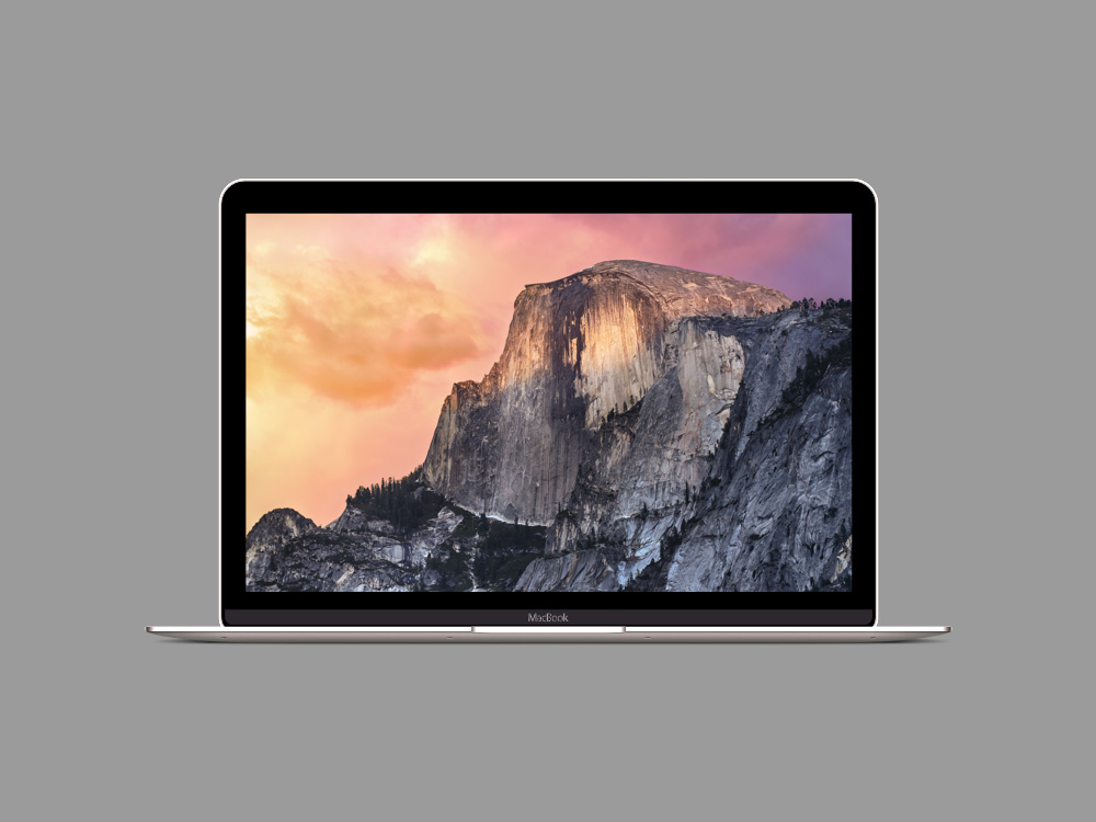 Retina MacBook Sketch Mockup