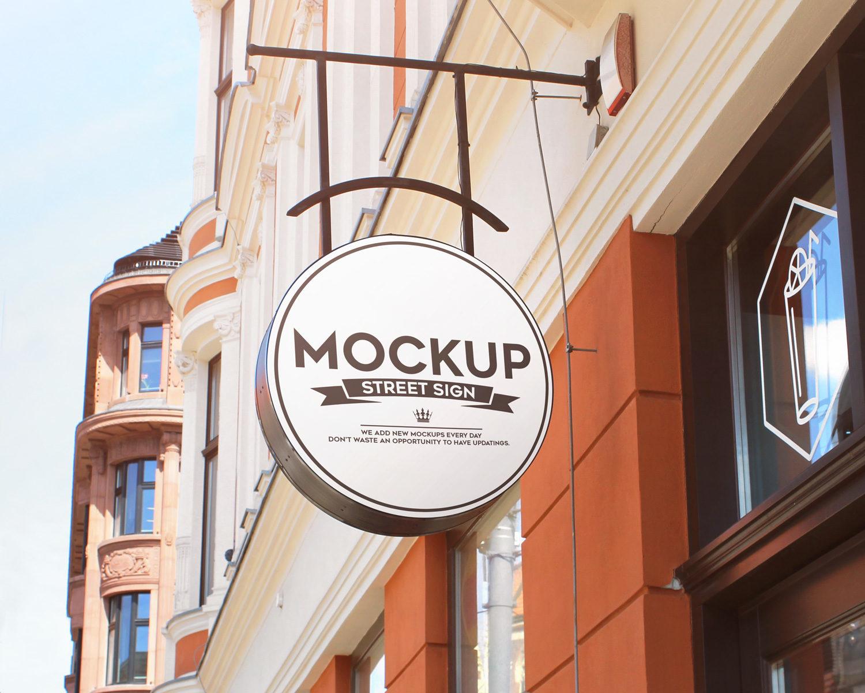 Street Sign Free Mockups