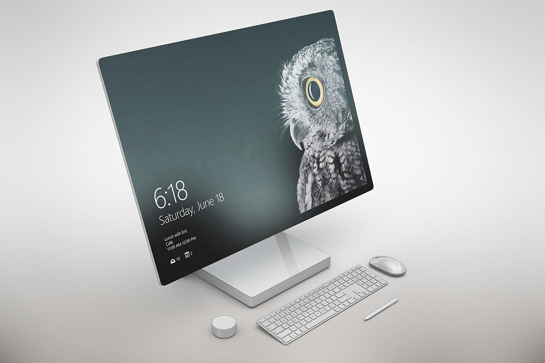 Surface Studio Mockup Free PSD