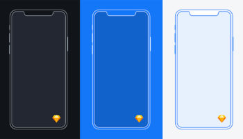 iPhone X Mockup Sketch Free