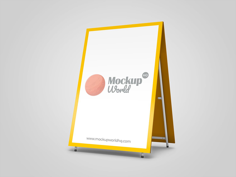 Advertising Sandwich Board Mockup