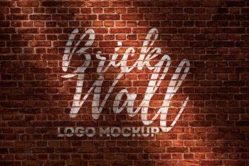 Brick Wall Logo Free Mockup