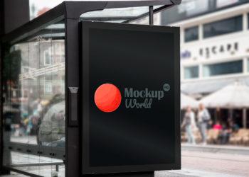 Bus Stop Branding Mockup