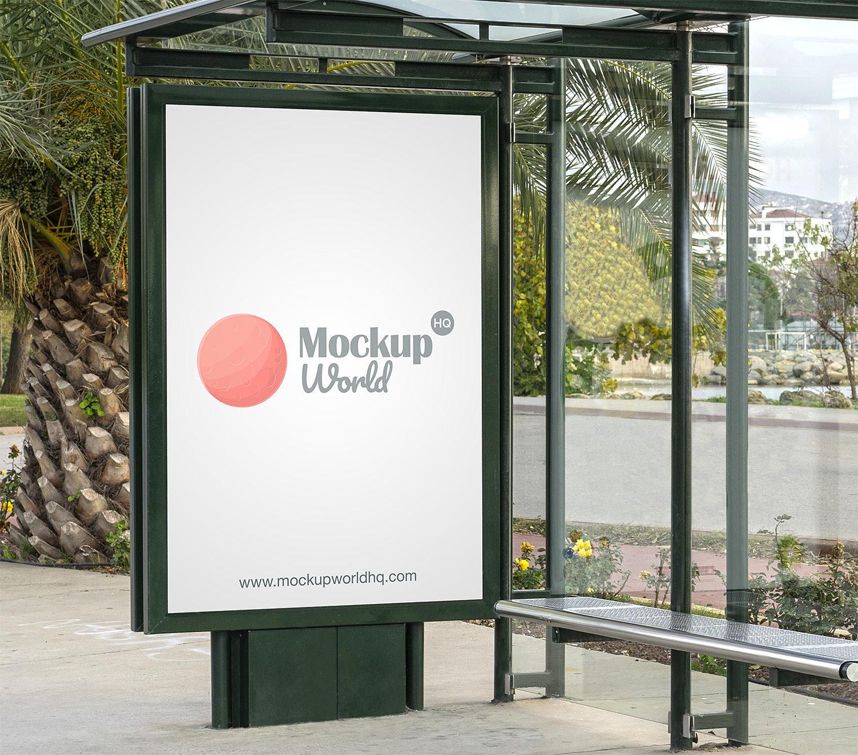 Bus Stop Poster City Light Mockup