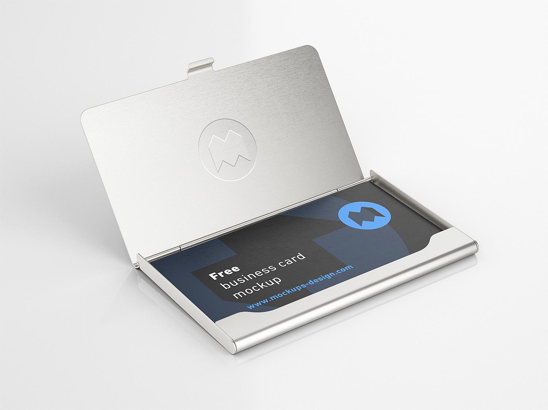 Business Card Holder Mockup
