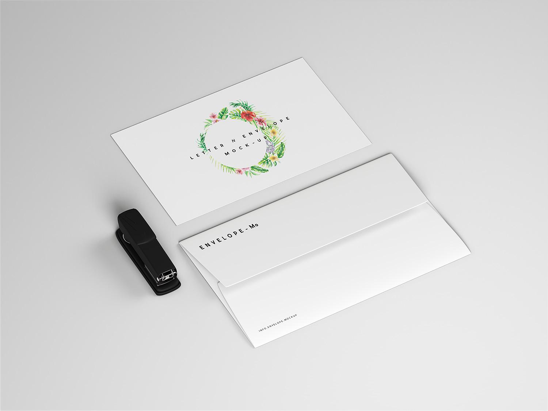 Envelope and Letter Mockup Free