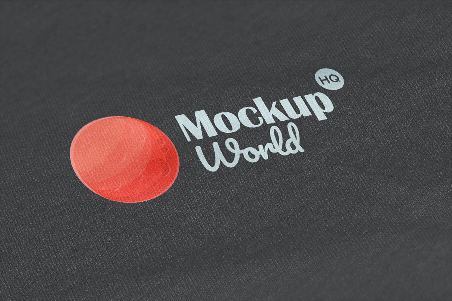 Free Logo Mockup Printed on Fabric