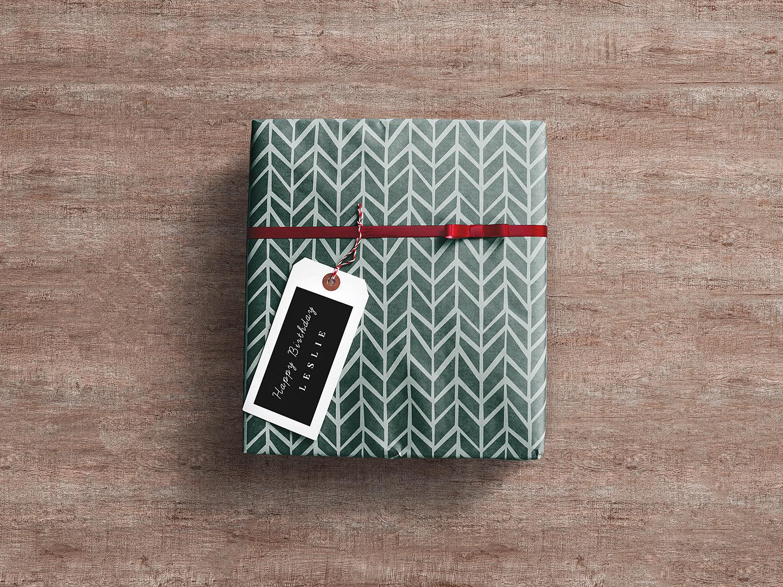 Gift Wrap Box Packaging Free Mockup