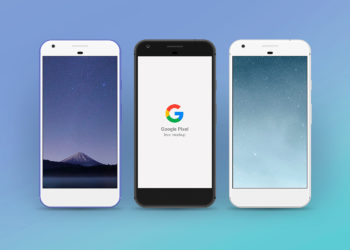 Google Pixel Sketch Mockup Free