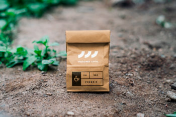 High-resolution Kraft paper bag mockup