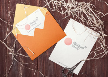 Invitation Card and Envelope Mockups Free
