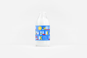 Milk Bottle Mockup Free