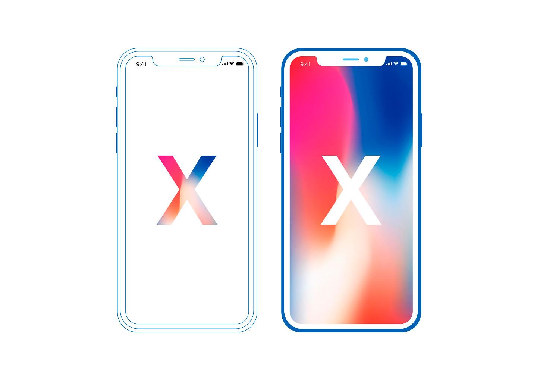 Minimal iPhone X Mockup Free