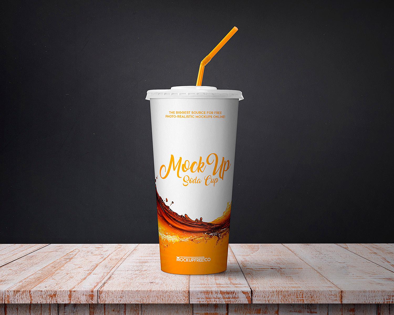 Soda Cup Mockup Free PSD