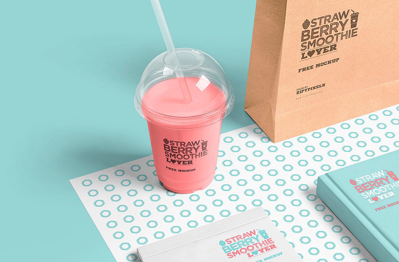 Transparent Plastic Cup Mockup Free