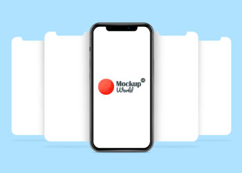 iPhone X App Presentation Mock-Up Frees