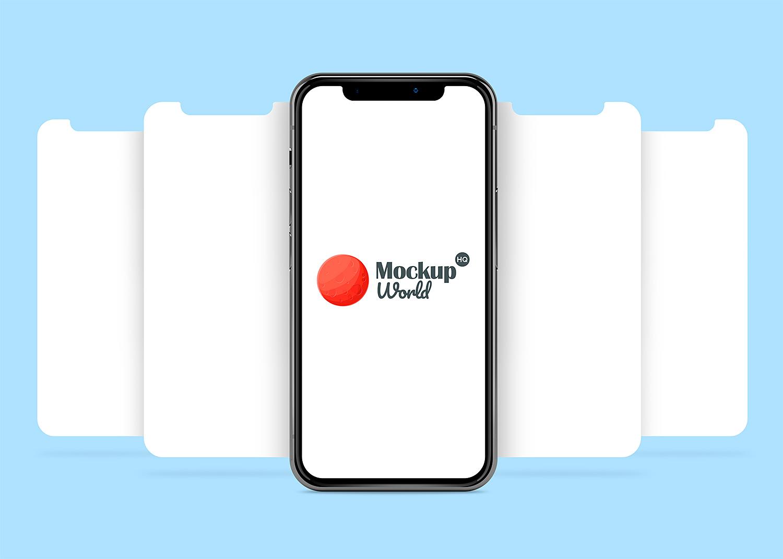 iPhone X App Presentation Mock-Up Frees