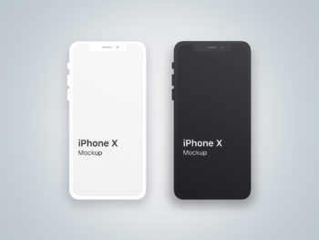 iPhone X Clean Mockup for Sketch