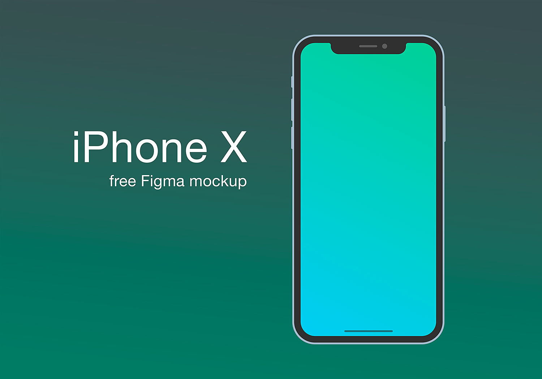 iPhone X Figma Mockup Free