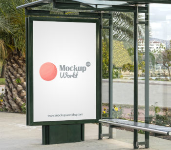Bus Stop Poster City Light Mockup